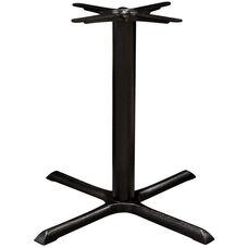 Valencia 4 Cast Iron Large X Shaped Table Base - Black Powder Coat