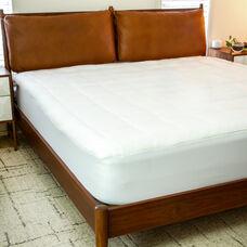 Mattress Pad - White Cotton Top - Queen Size - Deep Pockets - Hypoallergenic