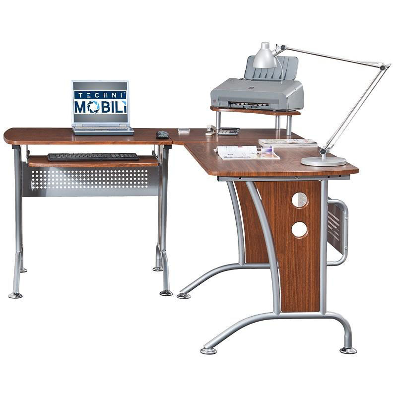 Our Techni Mobili L Shaped Computer Desk   Mahogany Is On Sale Now.