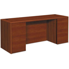 HON® 10500/10700 Series Laminate Credenza with Kneespace and Full Pedestals - 72