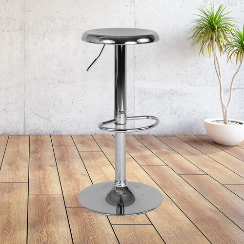 Our Madrid Series Adjustable Height Retro Barstool in Chrome Finish is on sale now.