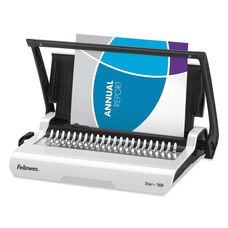 Fellowes® Star+ 150 Manual Comb Binding Machine - 17 11/16 x 9 13/16 x 3 1/8 - White