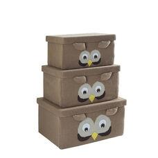 Multiple Size Fabric Storage Box - Owl