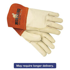 Memphis™ Mustang MIG/TIG Leather Welding Gloves - White/Russet - Large - 12 Pairs