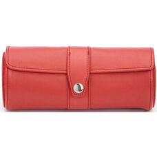 Deluxe Watch Roll - Top Grain Nappa Leather - Red