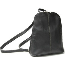 Zip Around Sling Backpack - Colombian Vaquetta Leather - Black