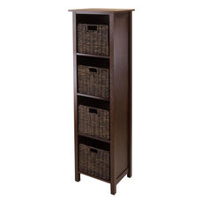 Granville 5-Pc Storage Shelf with 4 Sections and 4 Foldable Baskets