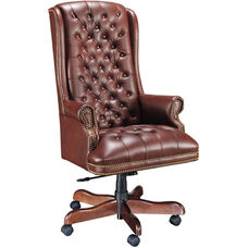 Quick Ship Traditional Series Tufted Extra High Back Executive Swivel Chair
