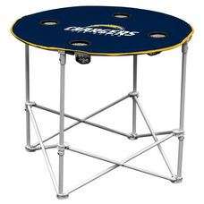 San Diego Chargers Team Logo Round Folding Table