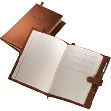Writing Journal - Milano Top Grain Leather - Tan