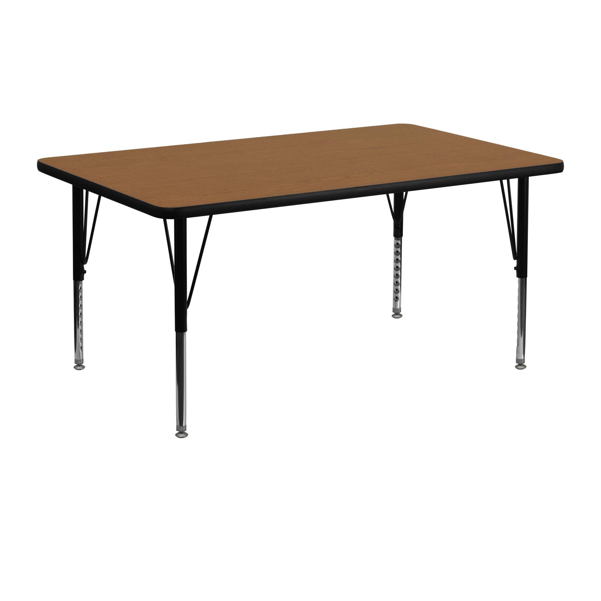 Flash furniture 24 39 39 w x 48 39 39 l rectangular oak thermal for Furniture 24