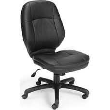 Stimulus Leatherette Ergonomic Mid-Back Task Chair - Black