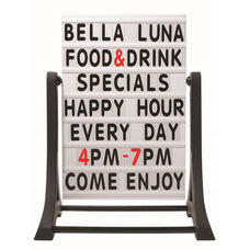 The Rocker Frameless Double Sided Sidewalk Sign with Changeable Letterboard - 32