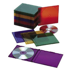 Skilcraft Assorted Color Cd Jewel Cases - Pack Of 25