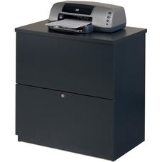 Two Drawer Standard Lateral File for Legal and Letter Sized Papers - Charcoal