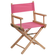 Standard Height Directors Chair in Pink