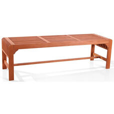 Malibu Outdoor Patio 5' Wood Backless Garden Bench