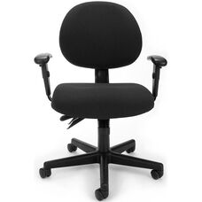 24 Hour Task Chair with Arms - Black