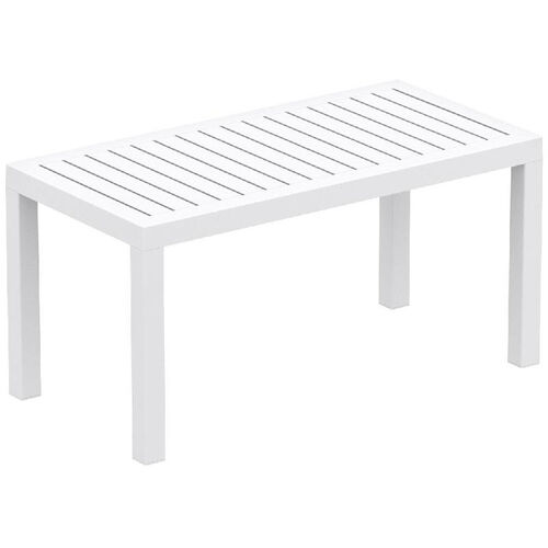 Ocean Outdoor Resin Rectangle Coffee Table - White