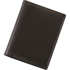 European Passport Wallet - Top Grain Nappa Leather - Black