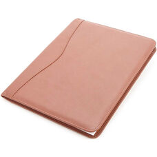 Deluxe Writing Padfolio - Top Grain Nappa Leather - Tan
