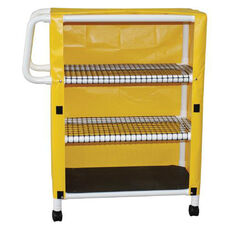 Mini Linen Carts with Open Area Shelf System and Casters - 20