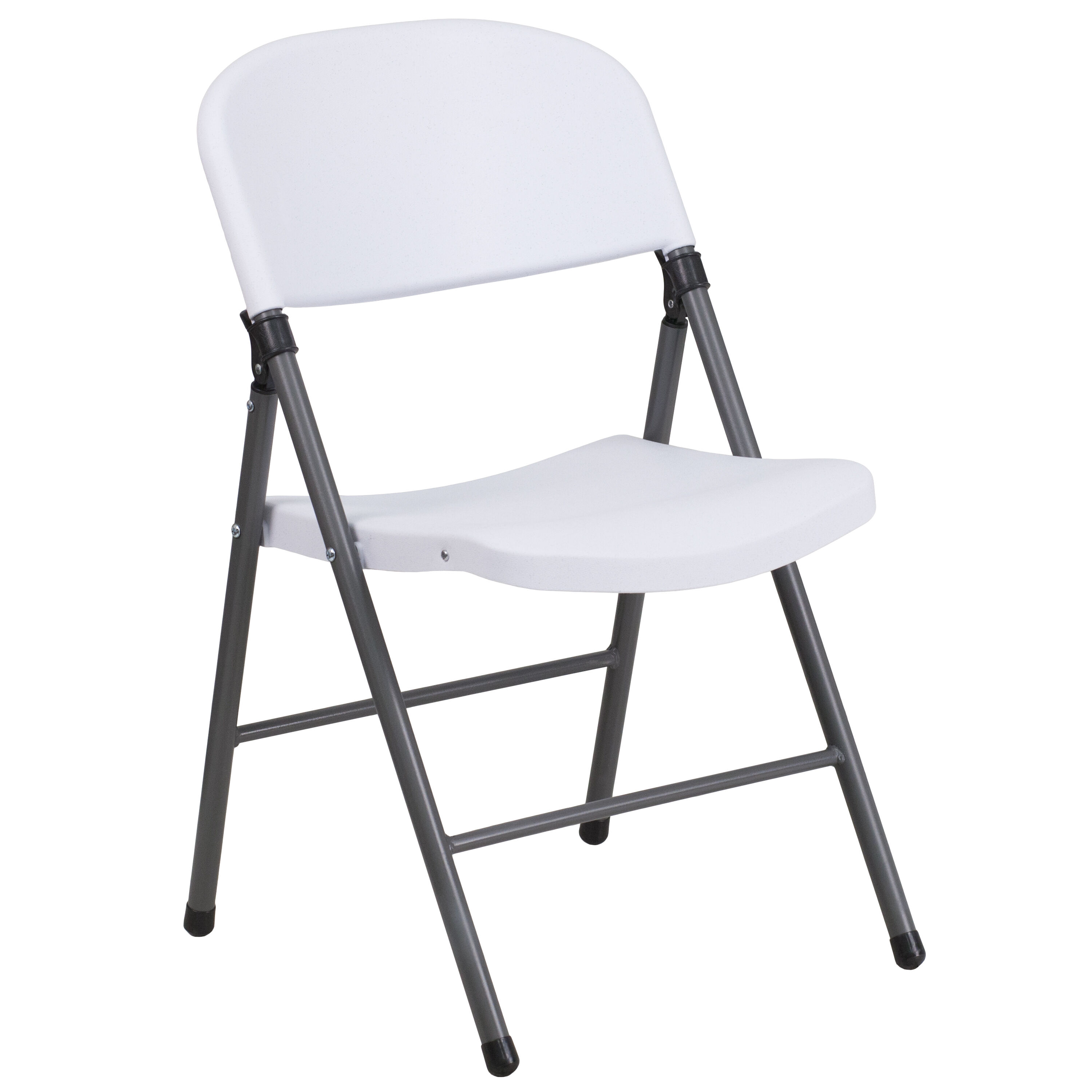Attirant Capacity Granite White Plastic Folding Chair With Charcoal Frame Is. Click  To Expand