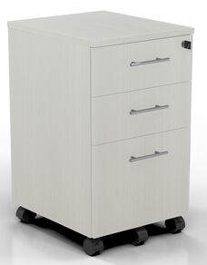 Medina Mobile Two Box Drawers and One File Drawer Pedestal with 2