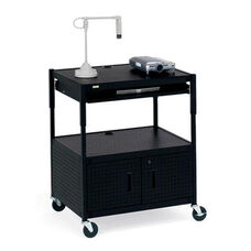 Multimedia Height Adjustable Cabinet Cart - 31