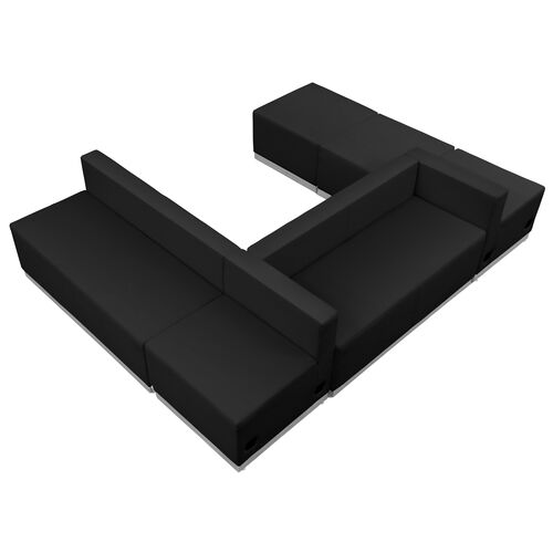 Our HERCULES Alon Series Black Leather Reception Configuration, 6 Pieces is on sale now.