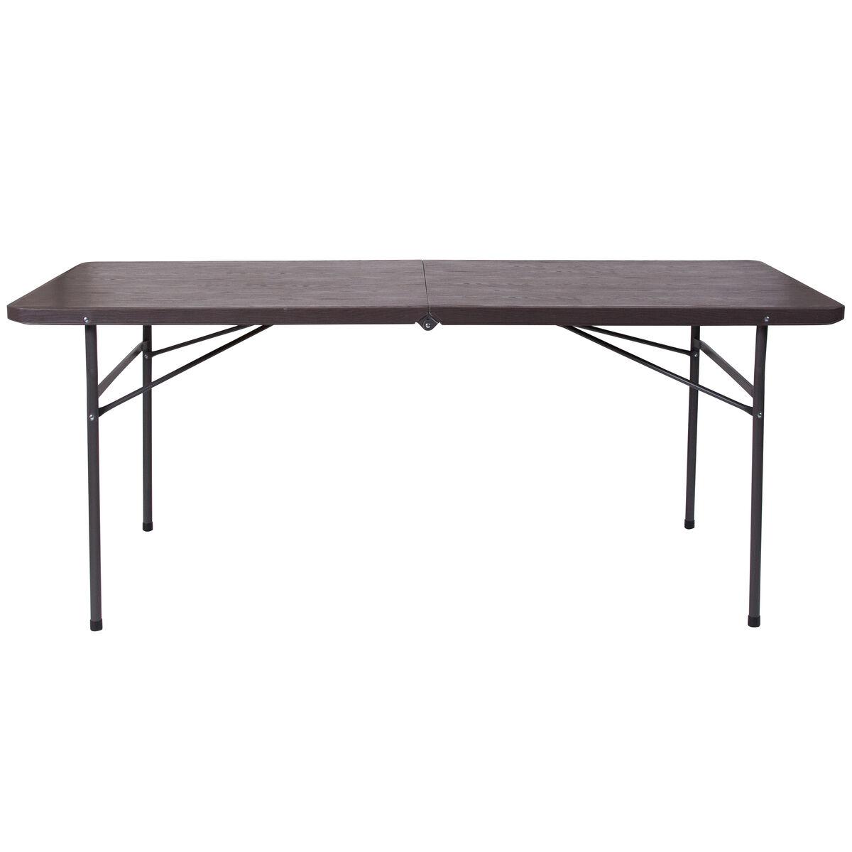 30x72 brown plastic fold table dad lf 183z gg bizchair com