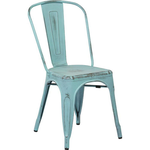 Our OSP Designs Bristow Stackable Armless Metal Chair - Set of 2 - Antique Sky Blue is on sale now.