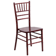 "HERCULES Series Mahogany Wood Chiavari Chair with <span style=""color:#0000CD;"">Free </span> Cushion"