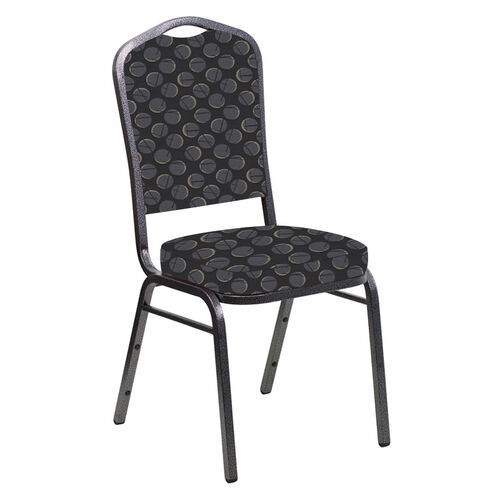 Our Crown Back Banquet Chair in Cirque Fabric - Silver Vein Frame is on sale now.