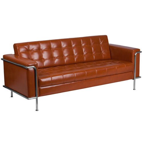 Our HERCULES Lesley Series Contemporary Cognac LeatherSoft Sofa with Encasing Frame is on sale now.