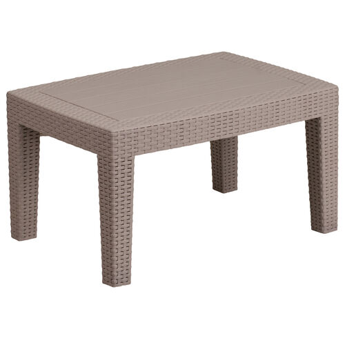 Our Light Gray Faux Rattan Coffee Table is on sale now.