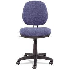 Alera® Interval Swivel/Tilt Task Chair - Tone-On-Tone Fabric - Marine Blue