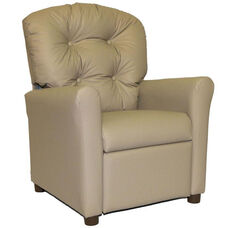 Kids Recliner with Button Tufted Back - Taupe