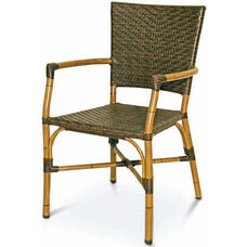Havana Collection Safari Bamboo Stackable Outdoor Arm Chair
