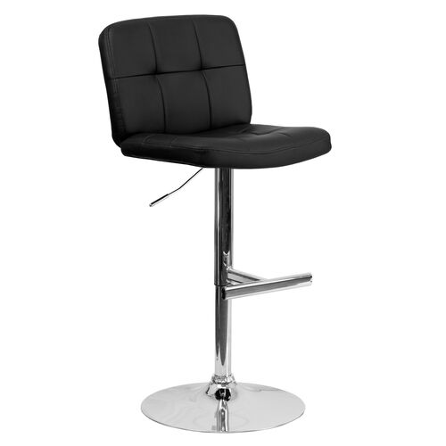 Our Contemporary Tufted Vinyl Adjustable Height Barstool with Chrome Base is on sale now.