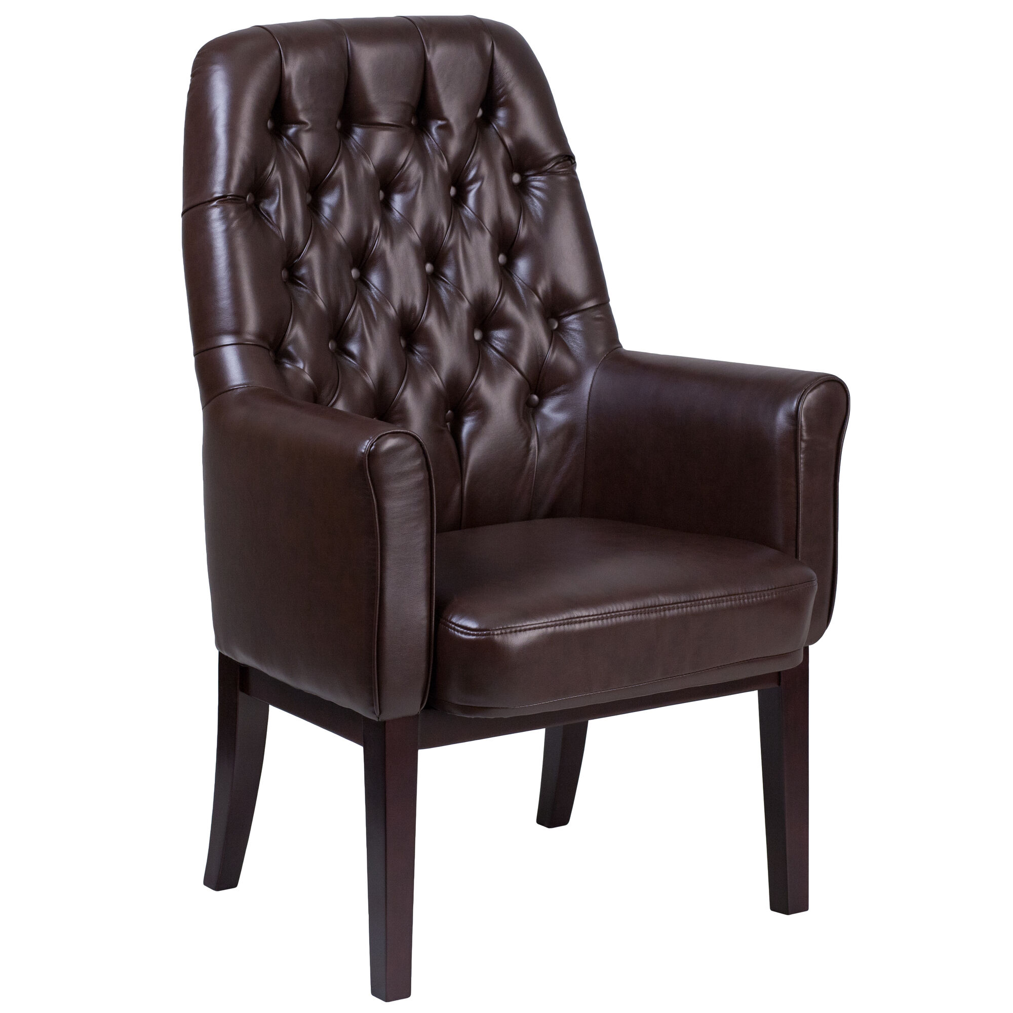 Brown Leather Side Chair Bt 444 Sd Bn Gg Bizchair Com