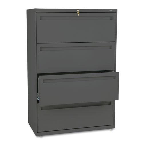 Our HON® 700 Series Four-Drawer Lateral File - 36w x 19-1/4d - Charcoal is on sale now.