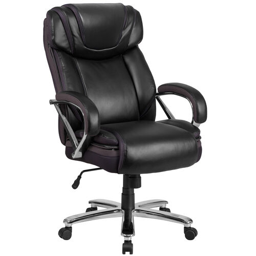 Our HERCULES Series Big & Tall 500 lb. Rated Black Leather Executive Swivel Ergonomic Office Chair with Extra Wide Seat is on sale now.