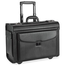 Lorell Rolling Laptop Catalog Case - Black