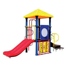 Galvanized Steel Tube Constructed Minnie Mega Series Play Center with Thermoplastic Coated Punch Steel Decks - 84