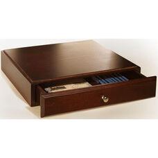 Bindertek Stack and Style Wood Desk Organizer Supply Drawer - Cherry Finish