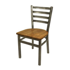 Lima Clear Coat Ladderback Side Chair - Autumn Ash Seat