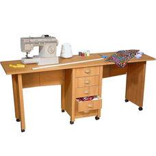 Double Folding Mobile Desk & Craft Center