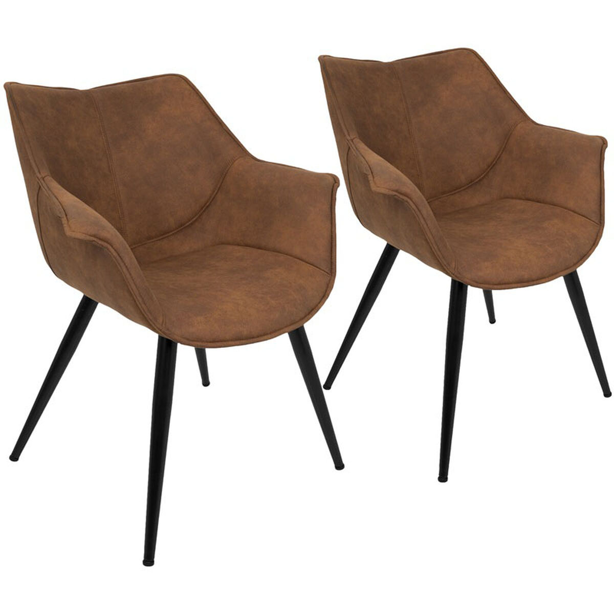 Our Wrangler Contemporary Fabric Accent Chair Rust Set Of 2 Is On Now
