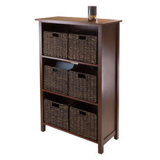 Granville 7-Pc Storage Shelf with 3 Sections and 6 Foldable Baskets